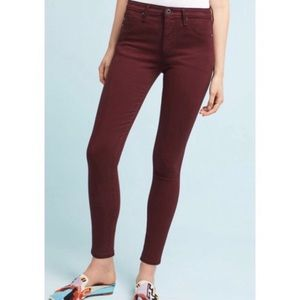 AG The Abbey Sateen Mid-Rise Skinny Ankle Jeans